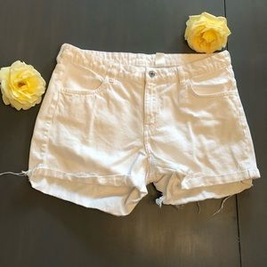 Adorable size 12 white shorts